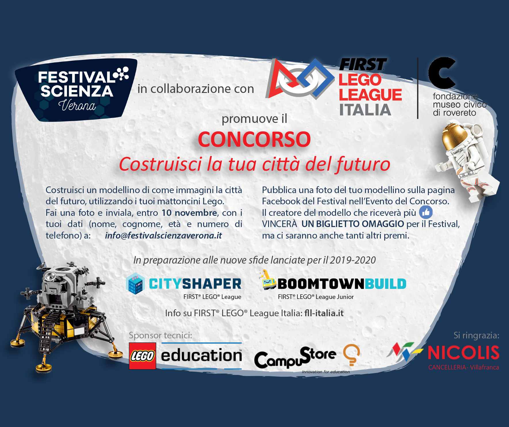 FIRST LEGO LEAGUE ITALIA promuove il CONCORSO Costruisci la tua città del futuro